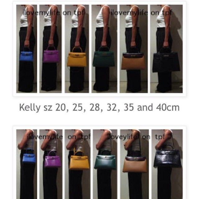 Hermes Kelly Size Guide Credits to  ilovemylife on TPF  8cf336b59ddf2