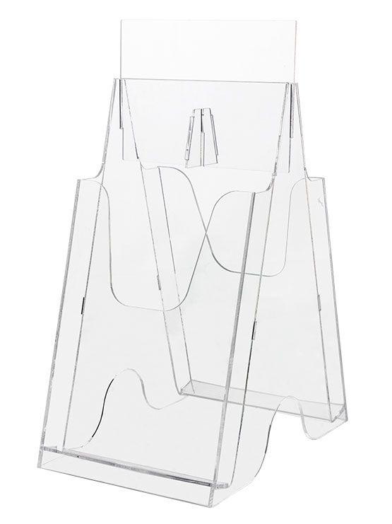 Expositor de Folletos Plástico Transparente (varios modelos) - https://doncarteltienda.es/producto/expositor-de-folletos-plastico-transparente-varios-modelos/