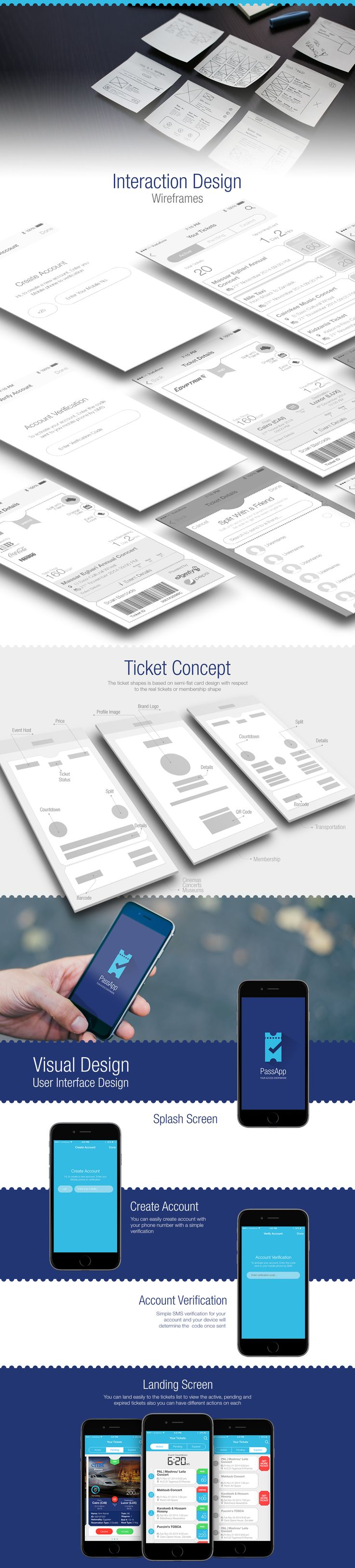 This is unofficial version, and won't be published (Rejected by Client)PassApp concept is converting the paper ticket to digitized ticket with simple experience enabling users to receive tickets on app, split it with friends and check-in at events. Simp…