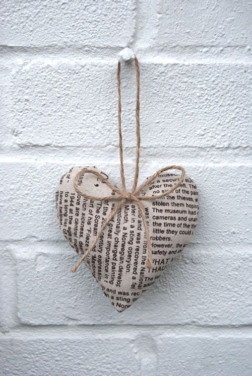 I could paste poem verses onto a metal heart with pva....