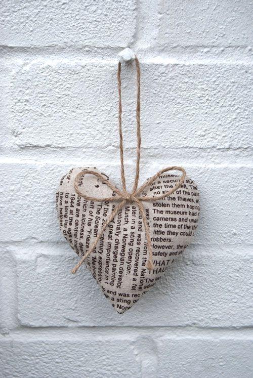 newsprint heart