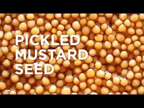 Pickled Mustard Seed -  350  g Champagne vinegar  150  g Water 100  g Sugar 11  g Salt 200  g Yellow mustard seeds