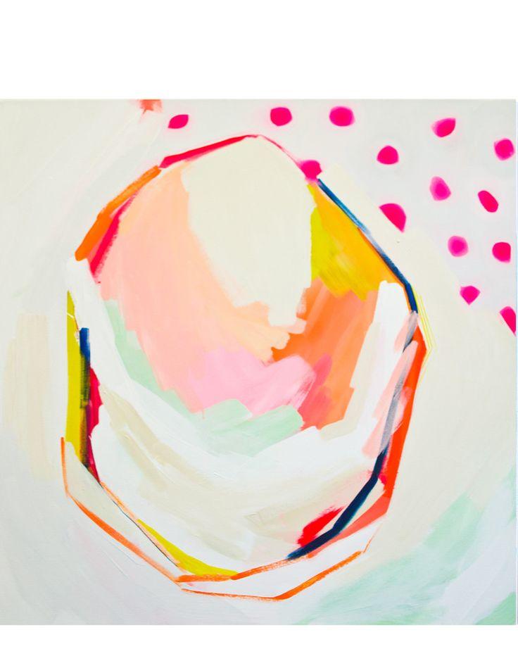 Pink Dots Print by Britt Bass