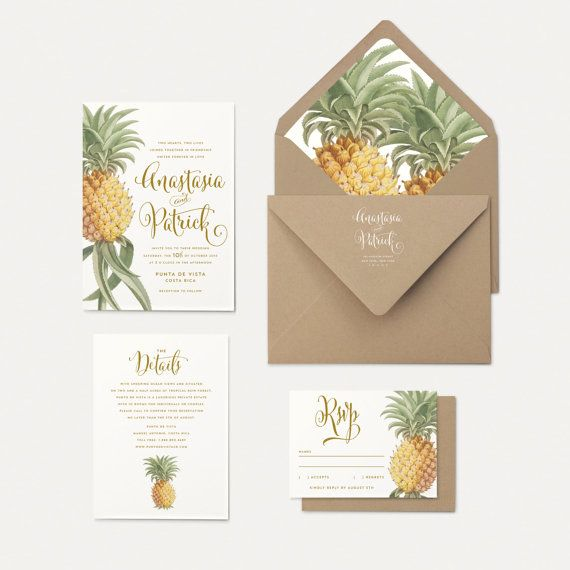 Pineapple Envelope Liners Reserved for Jessica