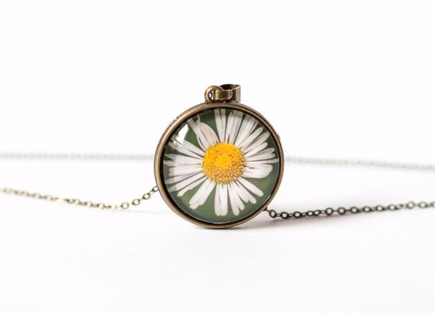 Charm Necklaces – Daisy necklace – a unique product by Art-Of-Nature on DaWanda