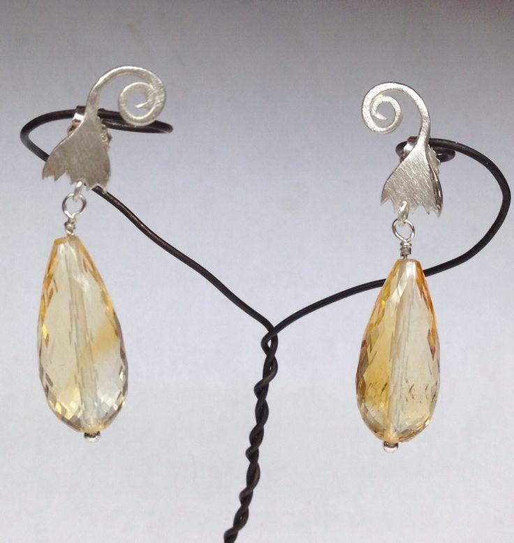 Ohrringe, Citrin/ Silber - Nicole Bolze Originals