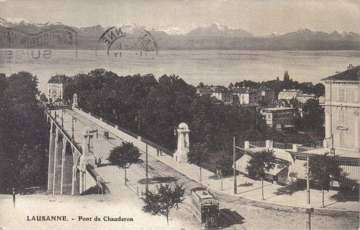 Le pont #Chauderon, carte postale de 1914 Leserreporter: Envoyé par J.M. Kaision