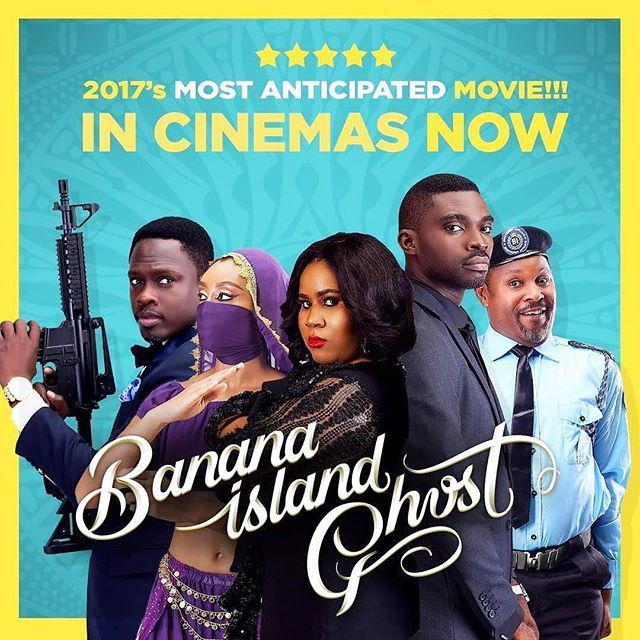 """""""BANANA ISLAND GHOST in Cinemas now!!! B.I.G is LIVE!!!🕺🏽 Hurry to the cinema nearest to you, be the first to brag about it.  Nollywood isn't playing anymore...we going for the number1 spot baibe!!!🍾🍷🍹 @bbsasore Godbless you for conceptualizing such great work. #youshineishine #nosleepingonbike #tobeghostgohungryyou #breakforth Welldone everyone👏🏻👏🏻👏🏻, now its time to reap!!! @bananaislandghost  @biolaalabi @nineyard @theonlychigul  @patrickdiabuah  @realalinuhu  @uchejombo…"""