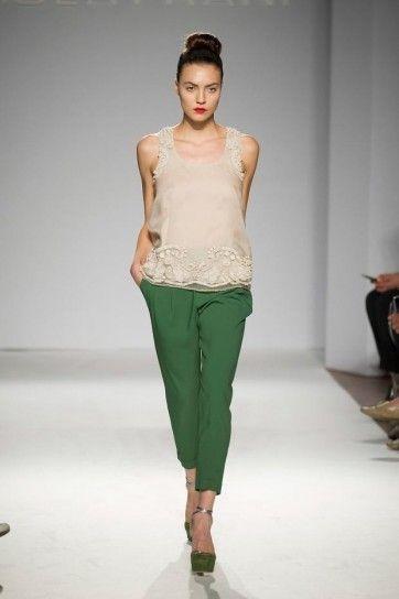 Pantaloni verdi Paola Frani