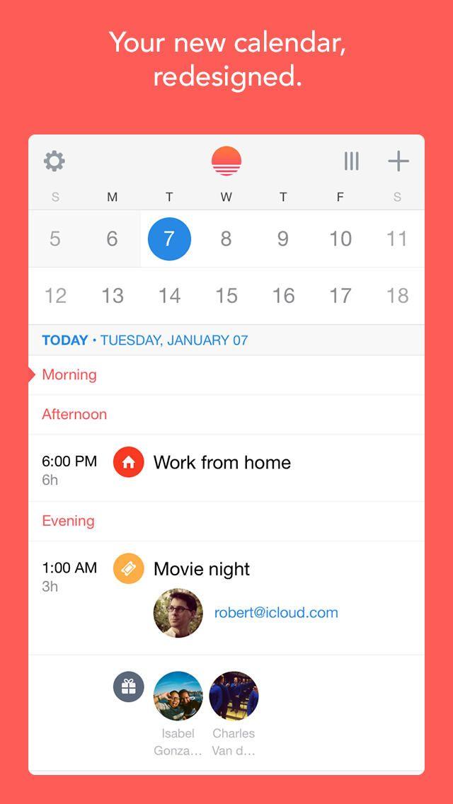 Sunrise Calendar - for Google Calendar, Exchange and for iCloud (ios) | AppCrawlr