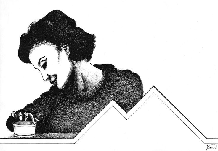 Twin Peaks- Audrey 25x17,5cm, fineliner