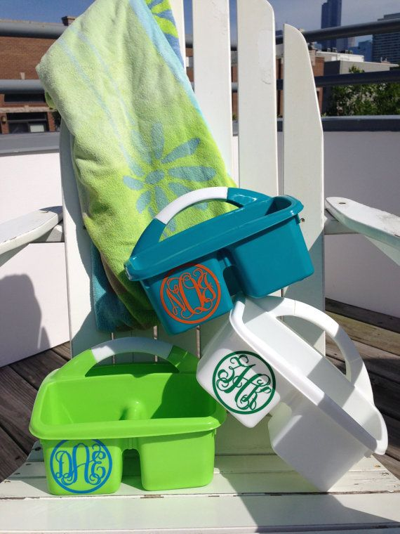 PERSONALIZED Shower Caddy Perfect for Dorm room or overnight camp by MonogramCollection, $12.95