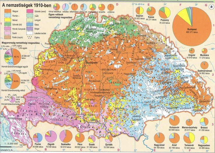 Ethnic composition of the Kingdom of Hungary, 1910 [2173x1545]