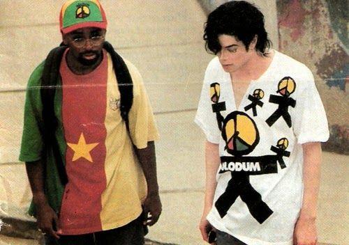 Michael Jackson and Spike Lee, no Brasil