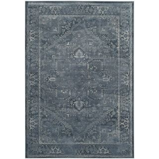 Safavieh Vintage Oriental Blue Distressed Silky Viscose Rug (7u0027 X 10u0027) By  Safavieh