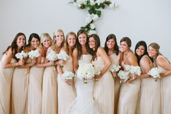 Amsale bridesmaid dress and Vera Wang gown. Photography by Magnolia Pair.