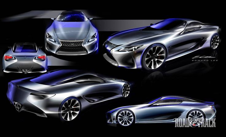 Photos: Lexus LF-LC Concept - Sketches  - RoadandTrack.com