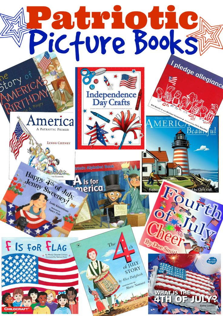 A collection of delightful Patriotic picture books that is perfect for Independence Day (4th of July), Memorial Day, and ANY day that you want to celebrate the USA!
