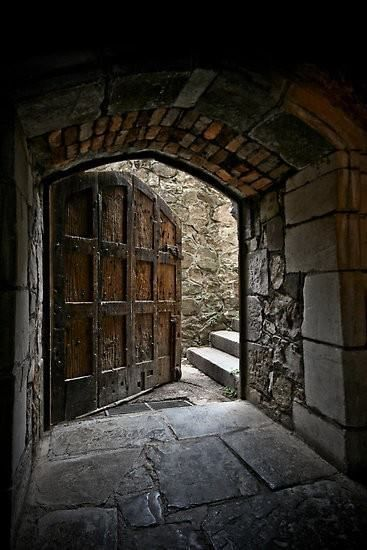 Back door of the Great Hall at Monsalvat.  Montsalvat is an artist colony in Eltham, Victoria, Australia, established in 1934. It is home to over a dozen buildings, houses and halls set amongst richly established gardens on 12 acres of land. ©Lisa Kenny