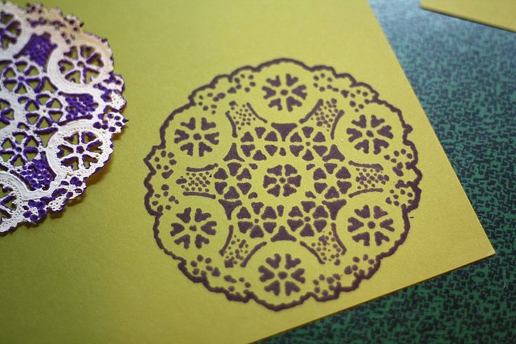 For handmade cards: a paper doily and a Sharpie.