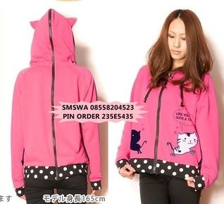 MORE INFO DETAIL http://www.outfitorganizer.com/dolman-sleeve-cat-jaket-hoodie.html