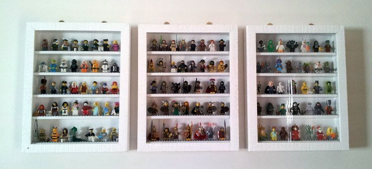 DIY LEGO Minifigure Display Case