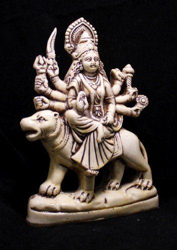 "Hand Carved Meditating Hindu Goddess Durga Resin Idol Sculpture Statue Size 7""x5"" Krishna Mart India http://www.amazon.com/dp/B00CZ99HYE/ref=cm_sw_r_pi_dp_KY.xwb0Q6927X"