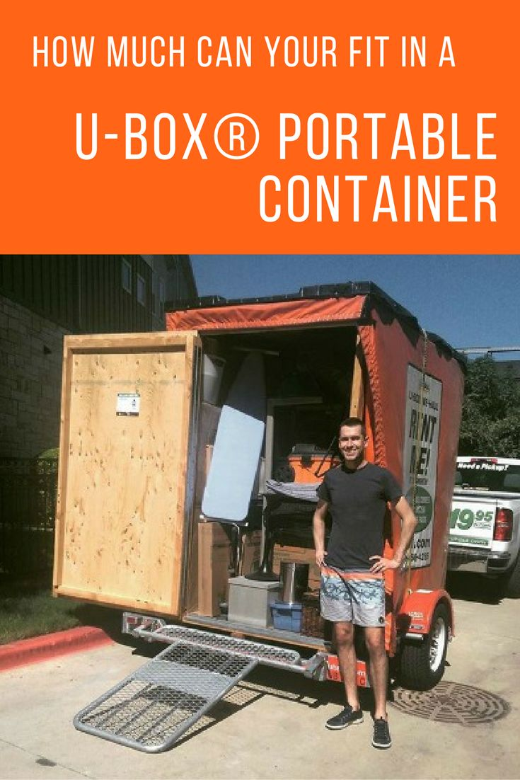 How much can you fit in a ubox container moving