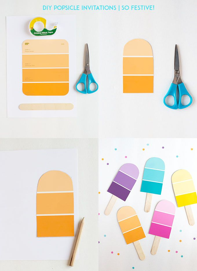 DIY Popsicle Party Invitations - So Festive!