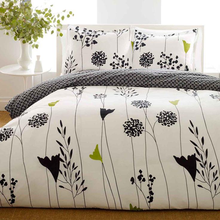 Amazon.com: Perry Ellis, Asian Lily Collection, Duvet Set, King: Bedding & Bath