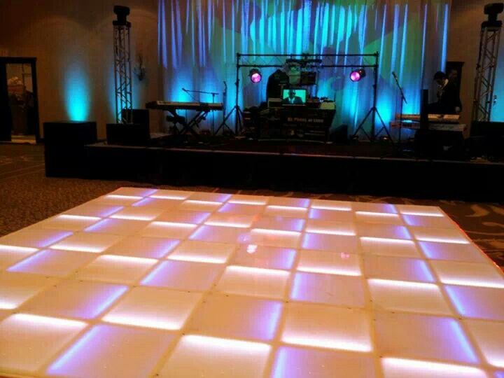 The LED Dance floor in action