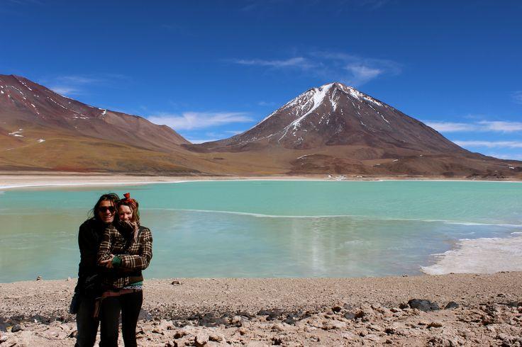 La Laguna Verde y el Volcán Licancabur.