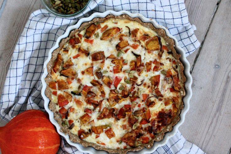 Glutenfri græskartærte med parmasan // Glutenfree pumpkin-pie with parmesan
