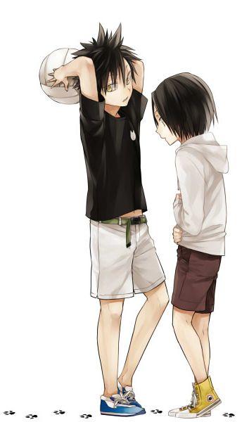 Haikyuu!! OMG kenma is the cutest in black hair!!! He looks so shy and cute!ʕ •ᴥ•ʔ