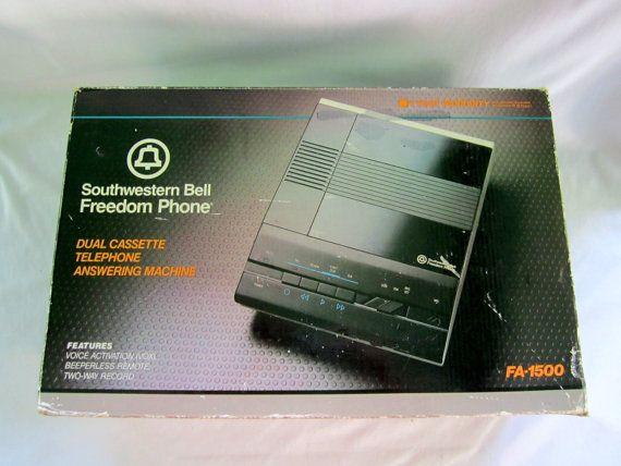 Answering Machine Dual Cassette Southwestern Bell by GoshenPickers