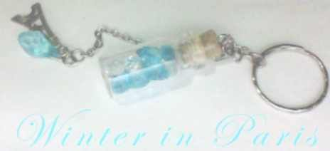 Tiny Bottle Charm or Keychain