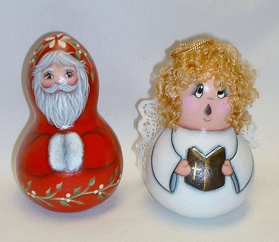 Jan Hagara Figurines For Sale: 1000+ Images About Painted Gourds Angel On Pinterest