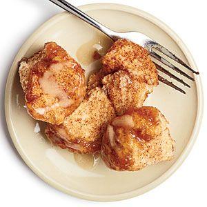 Monkey Bread   MyRecipes.comFun Recipe, Monkeys Breads, Breads Recipe, Monkeybread, Cream Cheese, Cooking Lights, Fathers Day, Christmas Mornings, Savory Recipe