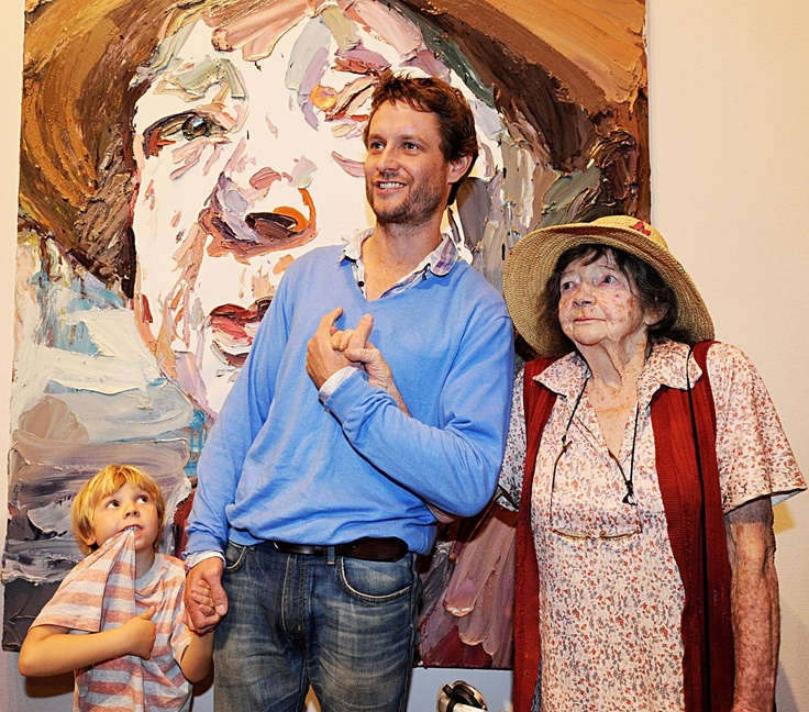 Ben Quilty & Margaret Olley. It's in the hands, check it out.