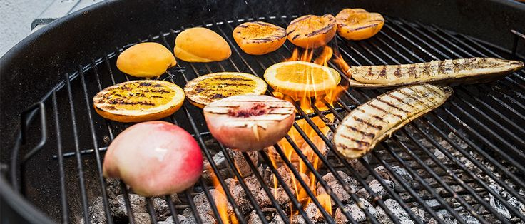 There's nothing wrong with eating summer fruit straight, but there's something oh-so-right about tossing those tender peaches, juicy mangoes and sugary berries onto the hot grill.