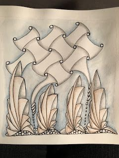 inquisitive-Sue: Zentangle Challenge #346 - Duo tangle, Phicops and Huggins