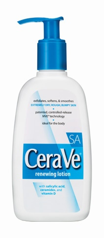 CeraVe SA Lotion is great for Keratosis Pilaris, those little, red, rough bumps on your arms!!