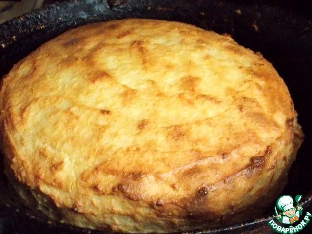 Творожно-яблочная баница Мука пшеничная