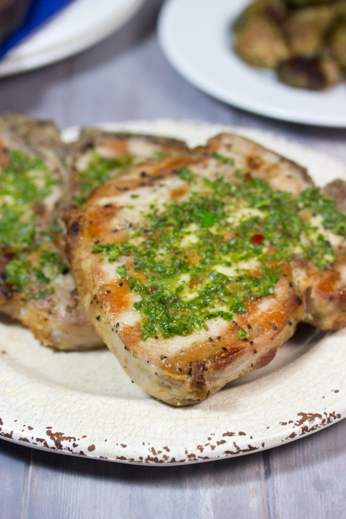 The secret to Juicy Grilled Pork Chops revealed! (plus Chimichurri Sauce)...a dinner recipe that will WOW!
