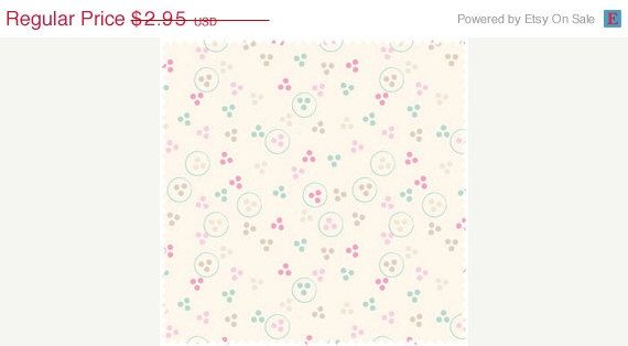 ON SALE Beautiful Garden Girl  Tiny Tri-Dot  by OakHillFabrics