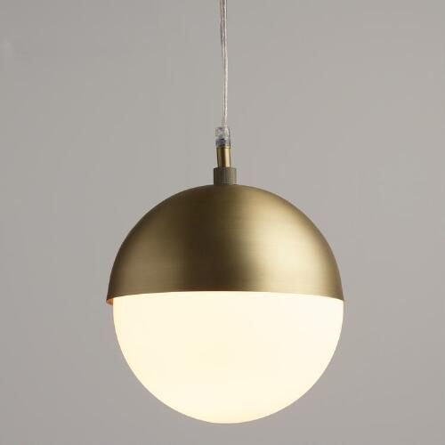 One of my favorite discoveries at WorldMarket.com: Frosted Glass Globe Hailey Pendant
