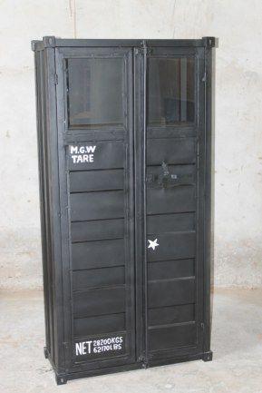 Containerskåp  90x40x180 cm (rek.rpsi 9200 kr) / Möbler industriell stil