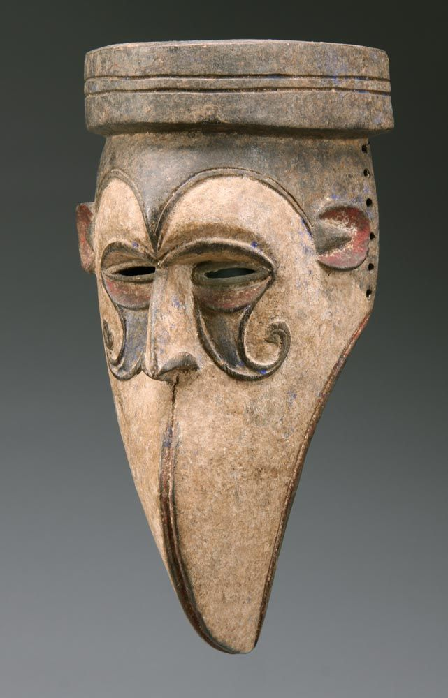 Africa | Mask from the Igbo people of southeastern Nigeria | Wood and pigment