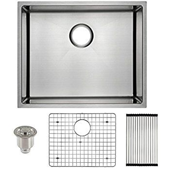 Harrahs 23 Inch Kitchen Sink 23x18 3x10 Inch 11 Gauge Lips Easy Drain Stainless Steel Single Bowl Wit Stainless Steel Kitchen Sink Undermount Kitchen Sink Sink