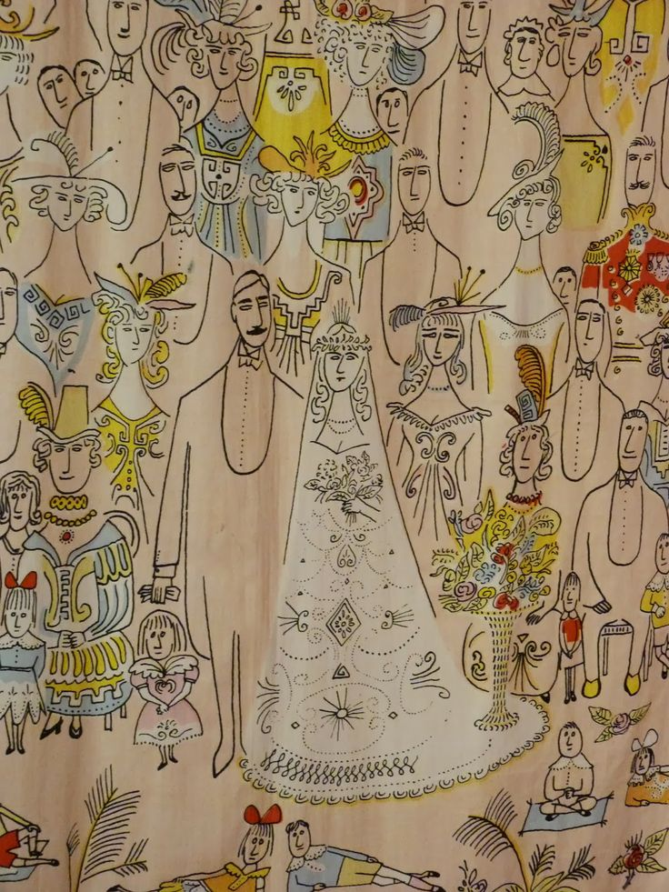Artist Textiles at the Fashion and Textile Museum. Print by Saul Steinberg